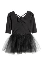 Dance dress with a tulle skirt - Black -  | H&M 1