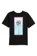 T-shirt met print - Zwart/palm - HEREN | H&M BE 3