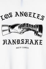 Printed T-shirt - White/Los Angeles - Men | H&M 4