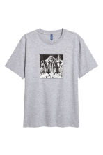 T-shirt met print - Grijs gemêleerd/New York - HEREN | H&M BE 2