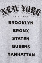 T-shirt met print - Grijs gemêleerd/New York - HEREN | H&M BE 4