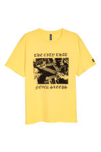 Printed T-shirt - Light yellow - Men | H&M CN 2
