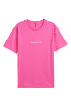 T-shirt met print - Roze - HEREN | H&M BE 2