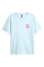 Printed T-shirt - Light blue - Men | H&M 2