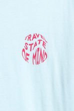 Printed T-shirt - Light blue - Men | H&M 3