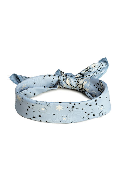 Scarf/Hairband - Light blue/Patterned - Ladies | H&M 1