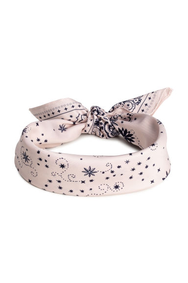 Scarf/Hairband - Light pink/Patterned - Ladies | H&M CN 1