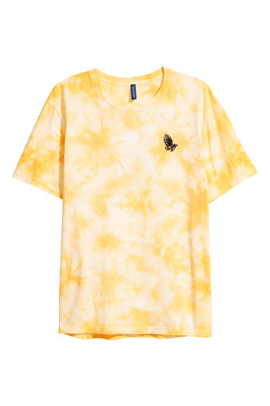 Batik-patterned T-shirt - Yellow - Men | H&M CA