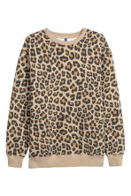 Printed sweatshirt - Leopard print - Men | H&M GB 2