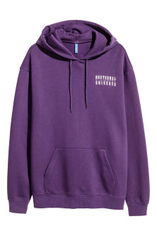 Hooded top with a print motif
