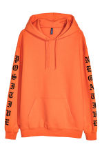 Hooded top with a print motif - Orange - Men | H&M 2