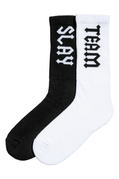 2-pack sports socks - Black/White - Ladies | H&M IE 1