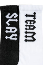 2-pack sports socks - Black/White - Ladies | H&M IE 3