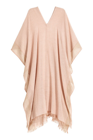 Poncho - Beige/Striped - Ladies | H&M 1
