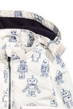 Fleece-lined outdoor jacket - White/Robot -  | H&M 2