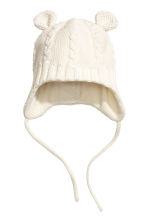 Fleece-lined hat - Natural white - Kids | H&M 1