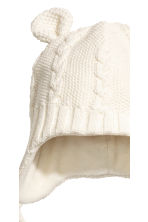 Fleece-lined hat - Natural white - Kids | H&M 2
