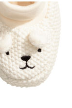 Knitted bootees - Natural white - Kids | H&M 2