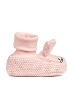 Knitted bootees - Light pink -  | H&M CN 2