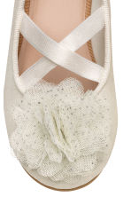 Ballet pumps - White/Glittery - Kids | H&M CN 4