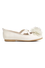 Ballet pumps - White/Glittery - Kids | H&M CN 2