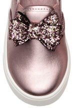 Slip-on trainers with a bow - Pink/Metallic - Kids | H&M 4