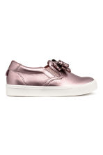 Slip-on trainers with a bow - Pink/Metallic - Kids | H&M CN 2