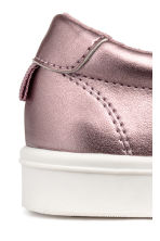 Slip-on trainers with a bow - Pink/Metallic - Kids | H&M CN 3