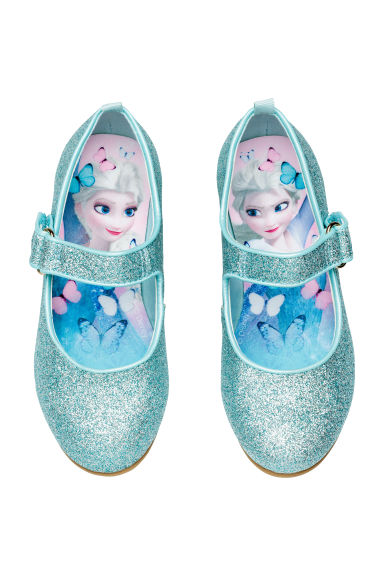 Glittery dressing up shoes - Turquoise/Frozen - Kids | H&M