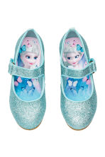 Glittery dressing up shoes - Turquoise/Frozen - Kids | H&M CN 1