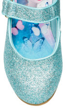 Glittery Dress-up Shoes - Turquoise/Frozen - Kids | H&M CA 4