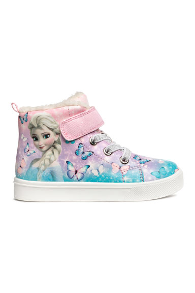 Pile-lined hi-tops - Light purple/Frozen - Kids | H&M IE