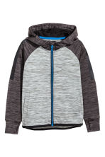 Hooded sports jacket - Grey marl - Kids | H&M CN 2