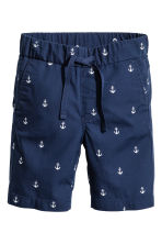 Cotton shorts - Dark blue/Anchor - Kids | H&M CN 3