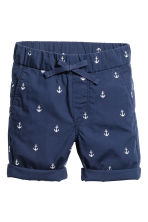 Cotton shorts - Dark blue/Anchor - Kids | H&M CN 2
