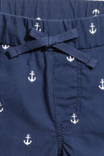Cotton shorts - Dark blue/Anchor -  | H&M 4