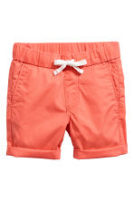 Cotton shorts - Coral - Kids | H&M CN 2
