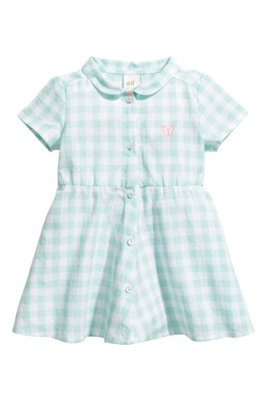Cotton dress - Turquoise -  | H&M 1