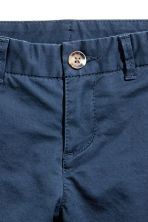 Chino - Slim fit - Donkerblauw -  | H&M BE 3