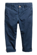 Chino - Slim fit - Donkerblauw -  | H&M BE 2