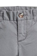 Slim fit Chinos - Grey -  | H&M 3