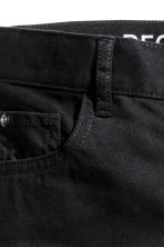 Pantalon en twill Regular fit - Noir -  | H&M CH 3