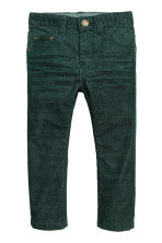 Pantaloni in velluto a costine - Verde scuro - BAMBINO | H&M IT 2