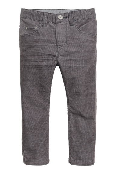 Corduroy trousers - Dark grey - Kids | H&M CN