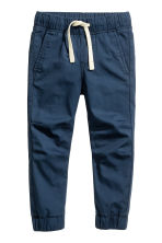 Cotton pull-on trousers - Dark blue - Kids | H&M 2