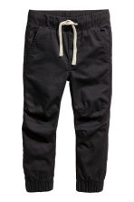 Cotton pull-on trousers - Black - Kids | H&M CA 2