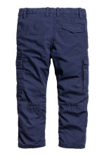 Lined cargo trousers - Dark blue -  | H&M 2