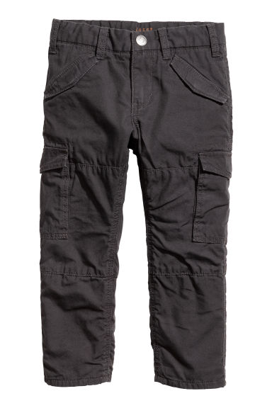 Lined cargo trousers Model