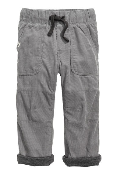 Lined joggers - Grey - Kids | H&M