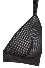 Non-wired mesh bra - Black - Ladies | H&M CN 3